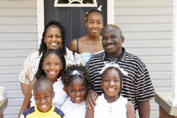 Habitat for Humanity dedicated its 200,000th house in 2005. It is now the   home of the Kouassi-Harper family of Knoxville, Tenn. (USA)